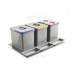 Сегрегатор GTV MULTINO 800 мм 2х15л +2х7л Графіт