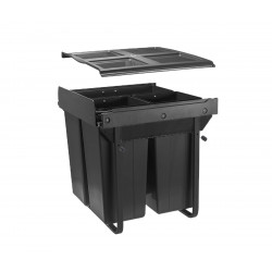 Сегрегатор GTV для кухонних шаф 600 мм 34 + 2х17л з кріпленням Графіт