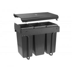 Сегрегатор GTV для кухонних шаф 400 мм 20+2х10л Графіт