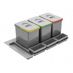 Сегрегатор GTV MULTINO 900 мм 3х15л + 3 ємності Графіт