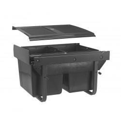 Сегрегатор GTV для кухонних шаф низький 450 мм 2х15л Графіт