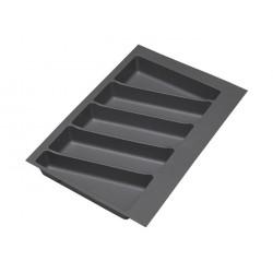 Лоток для столовых приборов с клипсой Volpato 32/76 340х490 графит