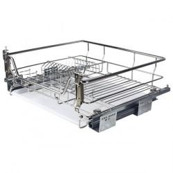 Корзина-сушка для посуды 600 мм, с доводчиком, нерж.сталь, хром, Muller