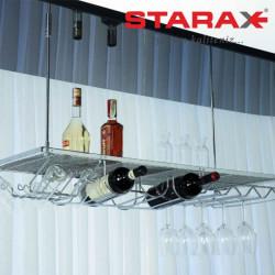 Полка барная Starax S-4111 подвесная хром