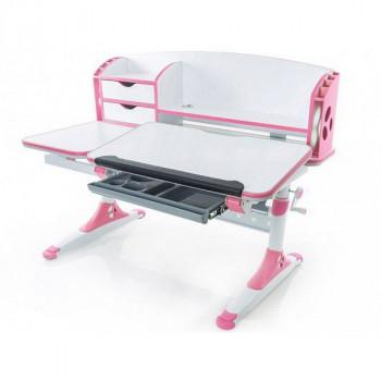 Купить Детская парта Mealux Evo-kids Aivengo - L  Pink (Evo-720 WP) ДЕТСКАЯ СТОЛ-ПАРТА от Школьная мебель Mealux