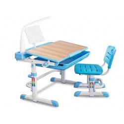 Столы-парты детские Mealux Evo-kids Evo-04 B XL клен (с лампой)