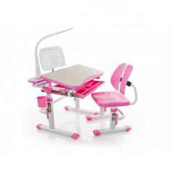 Детская стол парта Mealux Evo-kids Evo-05 PN (с лампой)