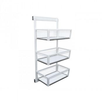 Купить Карго в шкаф 3х уровневая выдвижная с доводчиком Virno Style 325*460*960 белый/стекло КАРГО В ШКАФ от Мебельная фурнитура Virno Style
