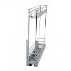 Карго для кухни 150мм Хром 2 полки полного выдвижения ДС