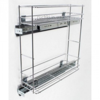 Купить Карго для кухни 200мм Хром 2п variant N бок. универсальн КАРГО 200 С ДОВОДЧИКОМ от Мебельная фурнитура REJS (Польша)