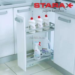 Карго для кухни Starax S-2802 B  корзина нижнего крепления, в секцию 200 мм, алюминий