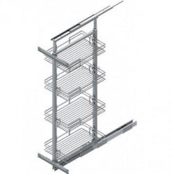 Карго для кухни Starax S-1121 галерея выдвижная 330х500х1250-1400 мм, секция 400 мм