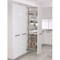 Карго для кухни Starax S-1135 галерея выдвижная 430х500х1550-1700 мм, 5полок секция 500 мм