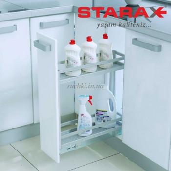Купить Карго для кухни Starax S-2802 B  корзина нижнего крепления, в секцию 200 мм, алюминий КАРГО КУХНЯ от Мебельная фурнитура STARAX (Турция)