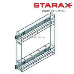 Карго для кухни S-2211 Starax 150 хром 2 п.бок.кр.+доводчик