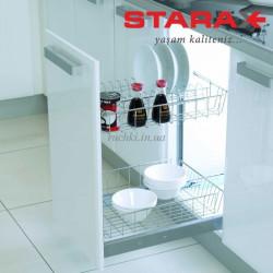 Карго для кухни S-2163 В 2-х уровневое с посудодержателем в секцию 450 мм