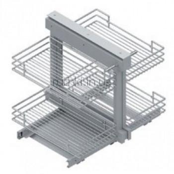 Купить Карго для кухни S-3008 выдвижной угловой механизм Secret правый 450 мм КАРГО КУХНЯ от Мебельная фурнитура STARAX (Турция)
