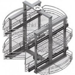 Карусель для кухни 500мм 3/4, выдвижная, d=800х640-760мм, хром S-3041 Starax