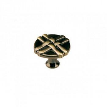 Купить Мебельная ручка кнопка латунь K-100 АВ КНОПКИ от Мебельная фурнитура ДС