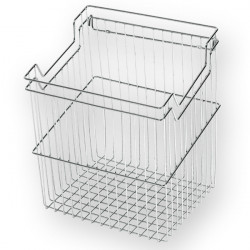 Корзина для белья с навесками ш230*г290*в500 (300) S-8111, хром, Starax