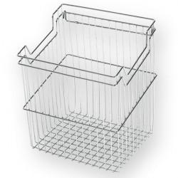 Корзина для белья с навесками ш380*г290*в500 (450) S-8114, хром, Starax