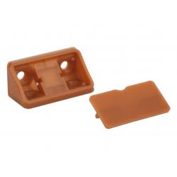 Уголок мебельный двойной пластиковый GIFF кальвадос