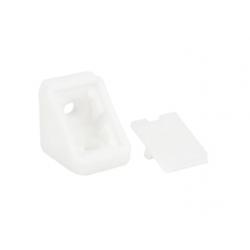 Уголок монтажный одинарный пластиковый GIFF Белый