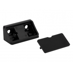 Уголок мебельный двойной пластиковый GIFF черный