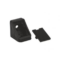 Уголок мебельный одинарный пластиковый GIFF черный