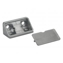 Уголок мебельный двойной пластиковый GIFF серый