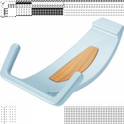 Крючки вешалки настенные хром Cebi 718 mp02 we10