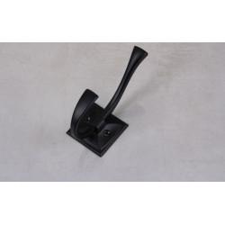 Крючки для одежды лофт MADRYT двойной, черный матовый