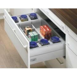 Органайзер для столовых приборовс банками 900мм H144 L470 Серебро