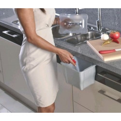 Контейнер для пищевых отходов 5л светло-серый