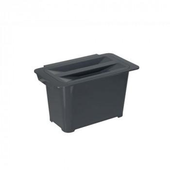 Купить Контейнер для мусора PELIKAN  антрацит  6л КОНТЕЙНЕР ДЛЯ МУСОРА от Мебельная фурнитура Pelikan (Турция)