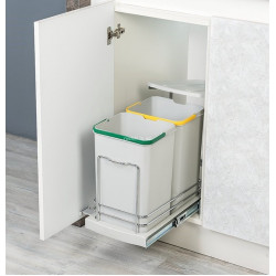 Ведро для сортировки мусора STARAX 12л+12л