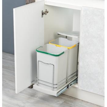 Купить Ведро для сортировки мусора STARAX 12л+12л ВЕДРО ДЛЯ СОРТИРОВКИ МУСОРА от Мебельная фурнитура STARAX (Турция)