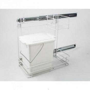 Купить Встроенное мусорное ведро для кухни REJS белое с метал. сеткой ВСТРОЕННОЕ МУСОРНОЕ ВЕДРО ДЛЯ КУХНИ от Мебельная фурнитура REJS (Польша)