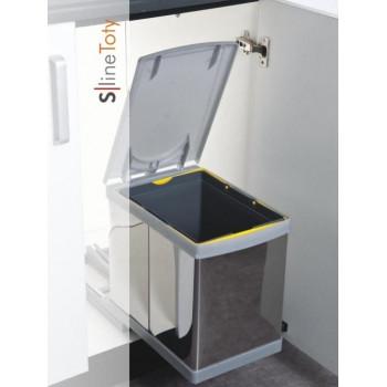 Купить Встроенное мусорное ведро для кухни TOTY автомат 16 л  ВСТРОЕННОЕ МУСОРНОЕ ВЕДРО ДЛЯ КУХНИ от Мебельная фурнитура Pelikan (Турция)