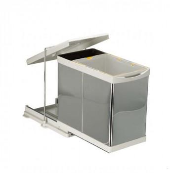 Купить Выдвижное мусорное ведро 20+1 л автомат нерж. сталь ВЫДВИЖНОЕ МУСОРНОЕ ВЕДРО от Мебельная фурнитура Pelikan (Турция)