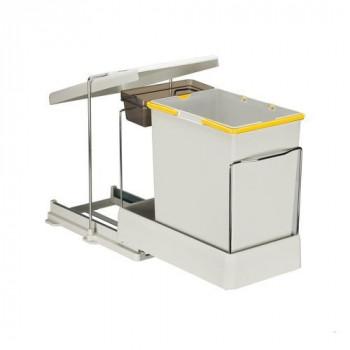 Купить Выдвижное мусорное ведро 20+1 л автомат ВЫДВИЖНОЕ МУСОРНОЕ ВЕДРО от Мебельная фурнитура Pelikan (Турция)