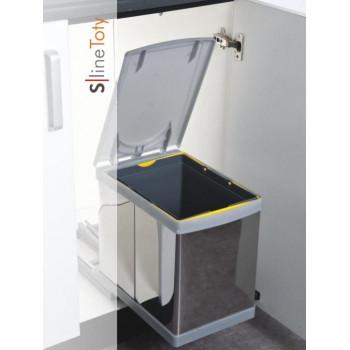 Купить Выдвижное мусорное ведро TOTY автомат 16 л  ВЫДВИЖНОЕ МУСОРНОЕ ВЕДРО от Мебельная фурнитура Pelikan (Турция)