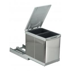 Встроенное мусорное ведро для кухни автомат 15 л (2 по 7,5л)