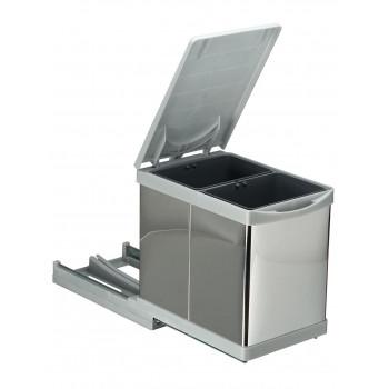 Купить Встроенное мусорное ведро для кухни автомат 15 л (2 по 7,5л) ВСТРОЕННОЕ МУСОРНОЕ ВЕДРО ДЛЯ КУХНИ от Мебельная фурнитура Pelikan (Турция)