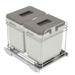 Кухонное ведро для мусора выдвижное VIBO модуль 400 15+15 л