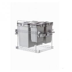 Ведро выдвижное кухонное VIBO 600 с доводчиком 20+20+10+9 л