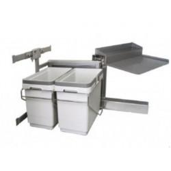 Мусорное ведро для кухни выдвижное VIBO мод. (правый) 450 с доводчиком 15+15 л
