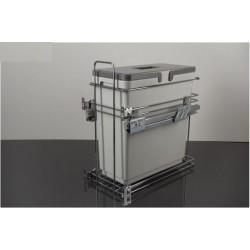 Мусорное ведро для кухни VIBO Kombi easyдля модуля 300 с доводчиком (1 ведро)