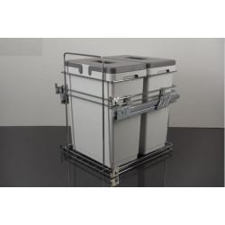 Мусорное ведро для кухни VIBO Kombi easyдля модуля 450 с доводчиком (2 ведра)