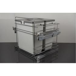 Мусорное ведро для кухни VIBO Kombi easyдля модуля 600 с доводчиком (2 ведра)